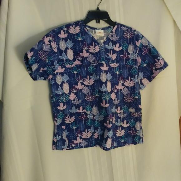 Peaches Scrub Shirt